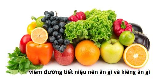 viêm đường tiết niệu nên ăn gì, kiêng gì