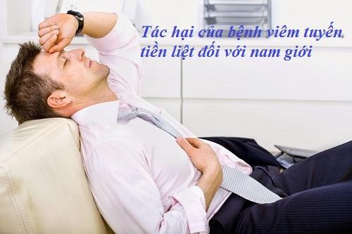 Tác hại của bệnh viêm tuyến tiền liệt đối với nam giới