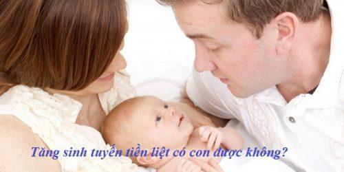 Tăng sinh tuyến tiền liệt có thể có con không