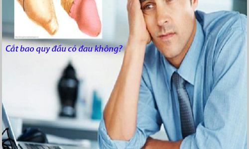 Cắt bao quy đầu có đau không?