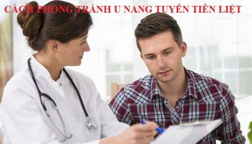 Cách phòng tránh bệnh u nang tuyến tiền liệt