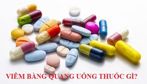 Viêm bàng quang uống thuốc gì?