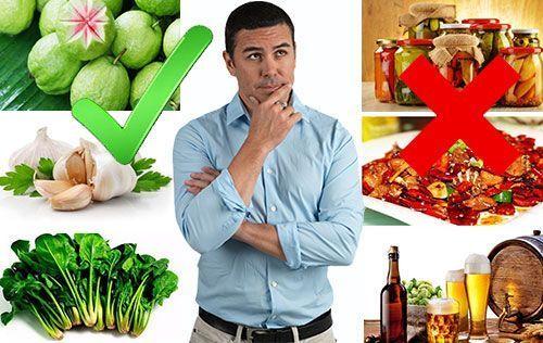 Bị viêm tinh hoàn nên ăn gì và kiêng ăn gì?